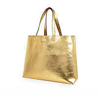 Gold reversible beach bag and purse