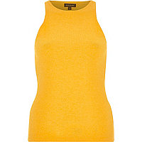 Orange ribbed racer back vest