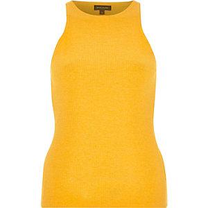 Orange ribbed racer back vest