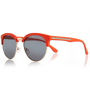 Bright orange neon retro sunglasses