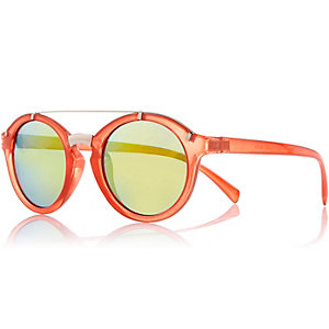 Orange round sunglasses