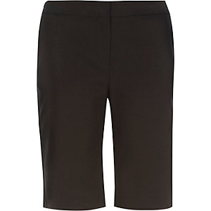 Black smart slim shorts