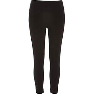 Black high waisted capri leggings
