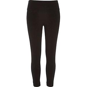Black high waisted capri leggings