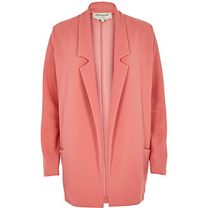 Light coral jersey twill jacket