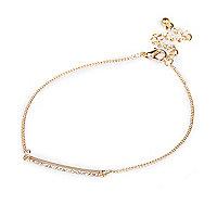 Gold tone skinny bar bracelet