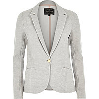 Light grey jersey blazer