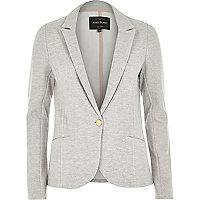 Light grey jersey blazer