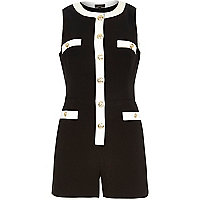 Black and cream smart playsuit