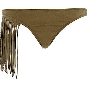 Khaki Pacha tassel bikini bottoms