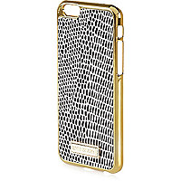 Black snake print iPhone 6 phone case