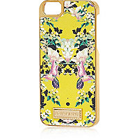Yellow floral print iPhone 5 case