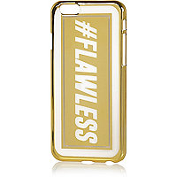 Gold tone iPhone 6 flawless phone case