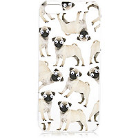 White googly eye pug iPhone 5 phone case
