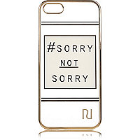 White slogan iPhone 5 phone case