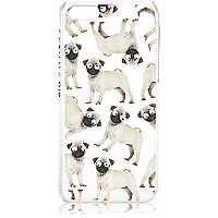White googly eye pug iPhone 5c phone case