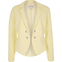 Yellow textured jersey jacket