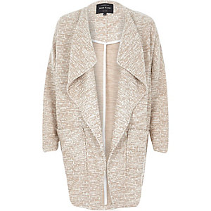 Beige slouchy cocoon jacket