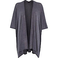 Grey lightweight waterfall blanket cardigan