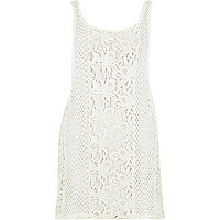 White crochet vest top
