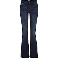 Mid wash Brooke flare jeans