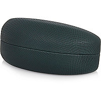 Dark green curved hard sunglasses case