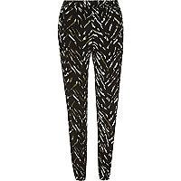 Khaki zebra print joggers
