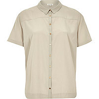 Grey lightweight short sleeve shirt