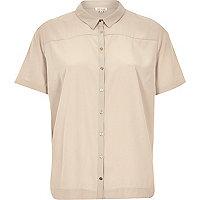 Beige lightweight short sleeve shirt
