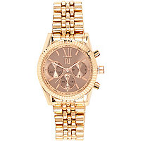 Rose gold tone chunky watch