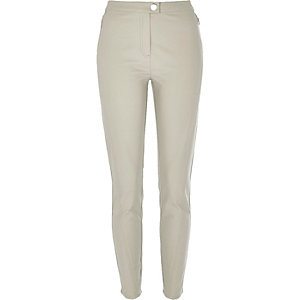 Light grey skinny trousers