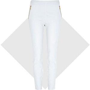 White zip capri trousers