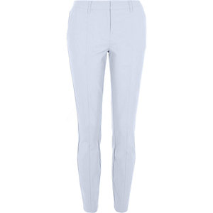 Light blue smart slim trousers