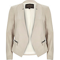 Beige tailored fitted blazer