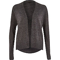 Dark grey metallic flecked cardigan