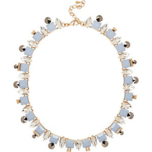 Blue pretty crystal necklace