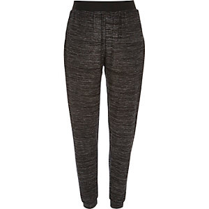 Dark grey neppy light joggers