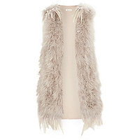 Beige feather gilet