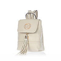Cream mini backpack