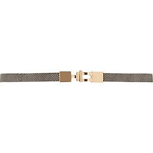 Grey snake waist belt