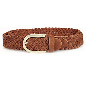 Brown 70s woven belt