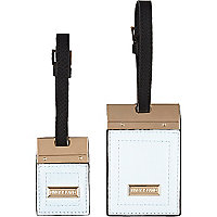 Blue luggage tag set