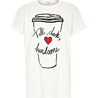 White tall dark handsome oversized t-shirt
