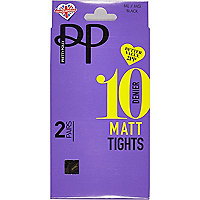 Black Pretty Polly 10 denier tights pack