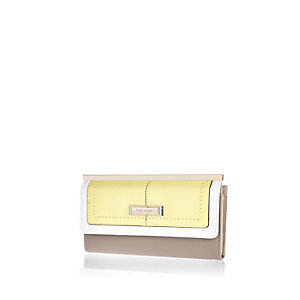 Yellow clip top purse