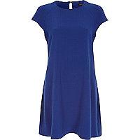 Blue short sleeve swing dress