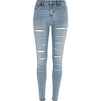 Light wash super slashed Molly jeggings