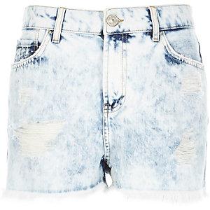 Acid wash high waisted Darcy denim shorts