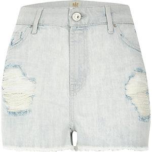 Light wash high waisted Darcy denim shorts