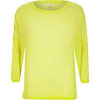 Yellow lightweight sheer slouchy top